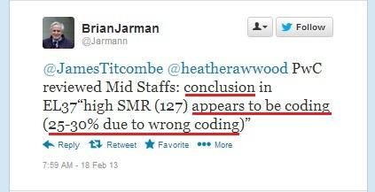 Prof Jarman's telling tweet.