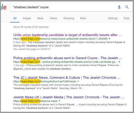shadowy backers google