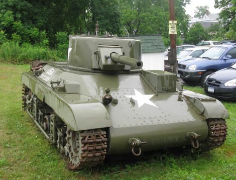 tank on lawn