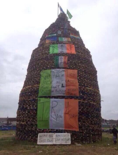 racist bonfire