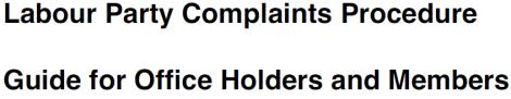 complaints procedure cover